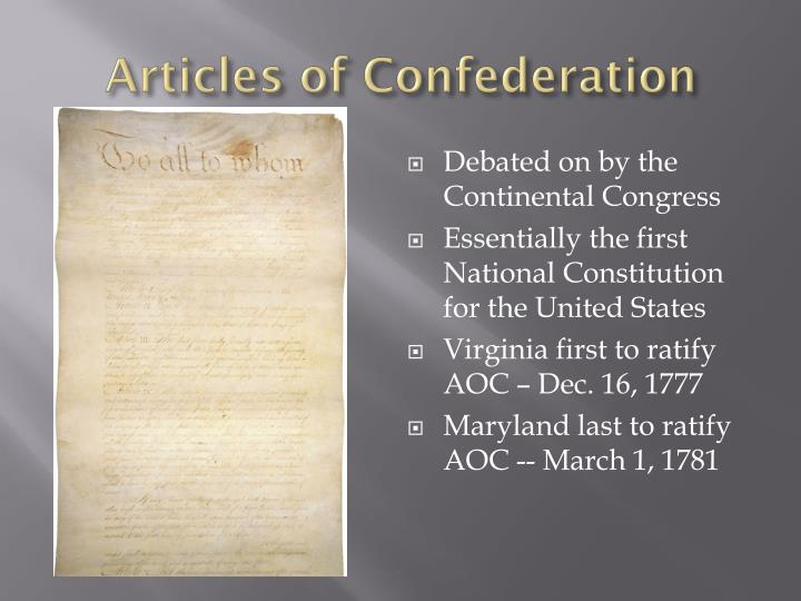 articles of confederation 3 essay In this lesson, we will discuss the background leading to the articles of confederation we will then summarize the different articles contained in.