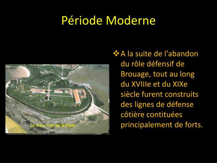 Période Moderne