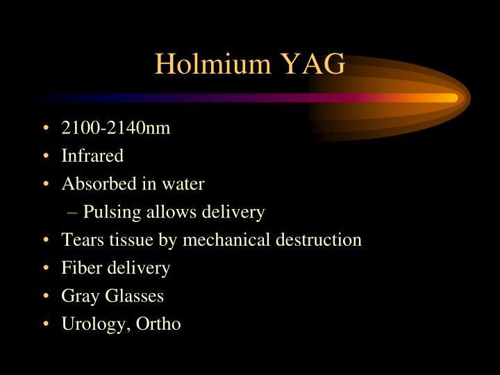 Holmium YAG