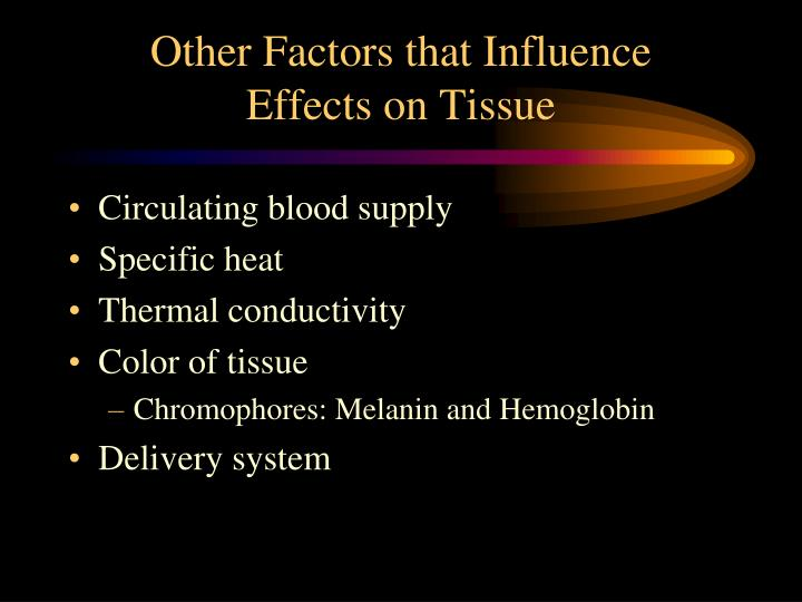 Other Factors that Influence