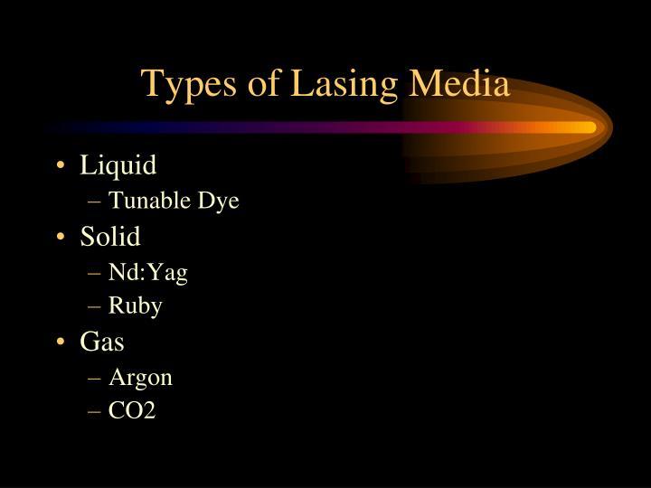 Types of Lasing Media