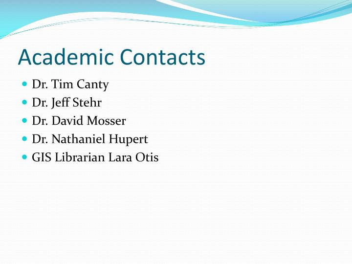 Academic Contacts
