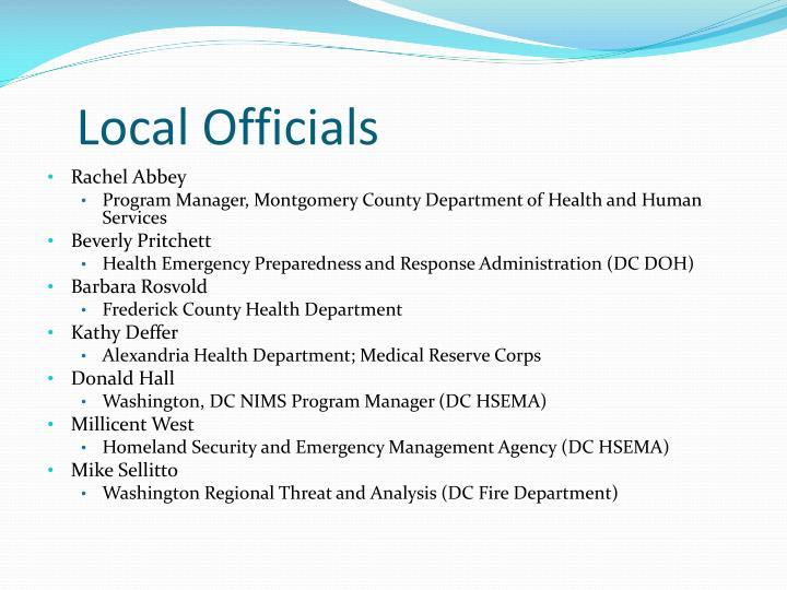 Local Officials