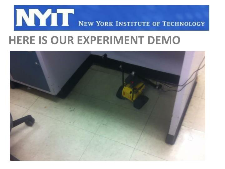 here is our experiment demo