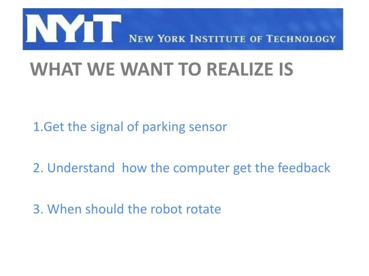 1.Get the signal of parking sensor