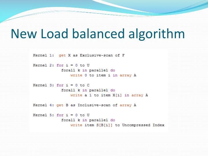 New Load balanced algorithm