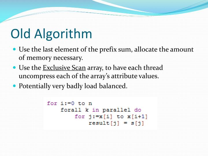 Old Algorithm
