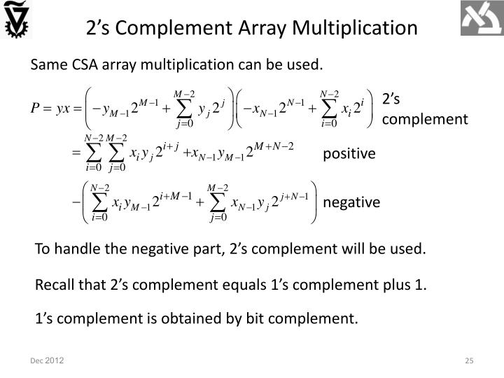 2's Complement Array Multiplication