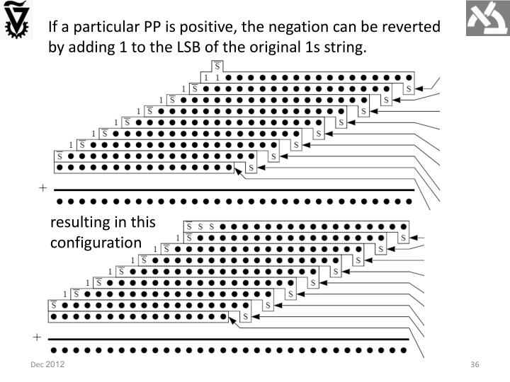 If a particular PP is positive, the negation can be reverted by adding 1 to the