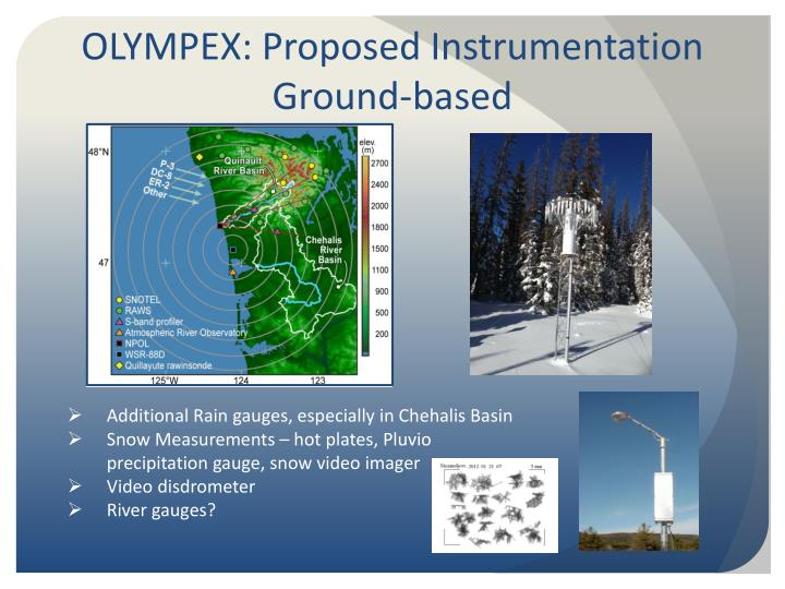 OLYMPEX: Proposed Instrumentation