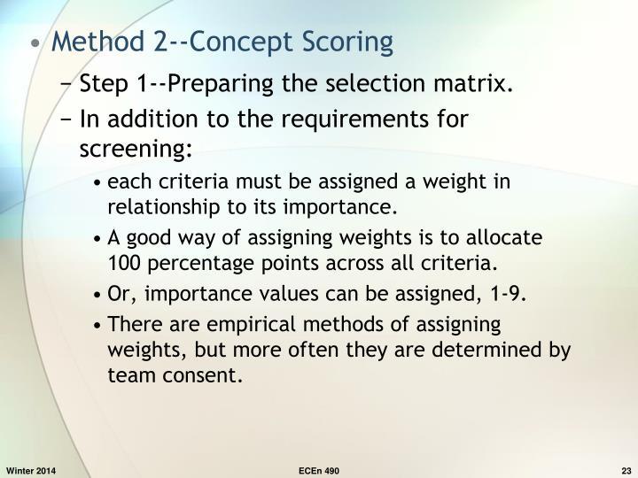 Method 2--Concept Scoring