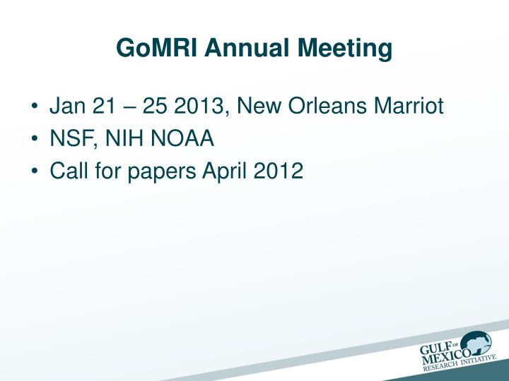 GoMRI Annual Meeting