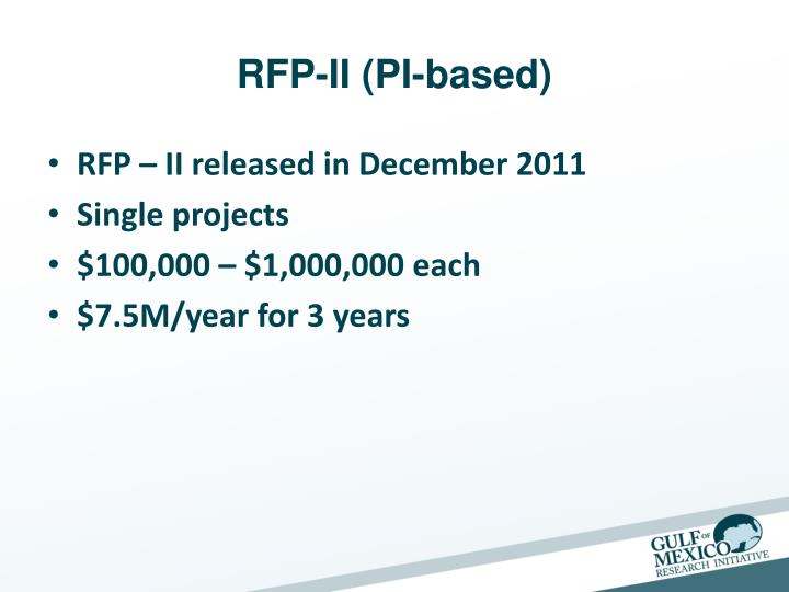 RFP-II (PI-based)