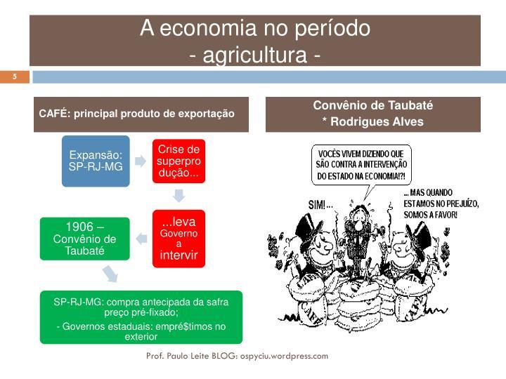 A economia no período