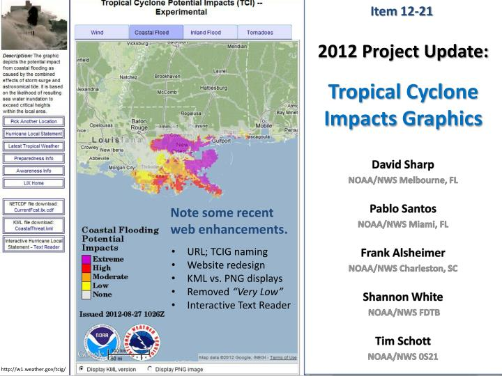 2012 project update tropical cyclone impacts graphics