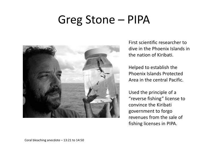 Greg Stone – PIPA
