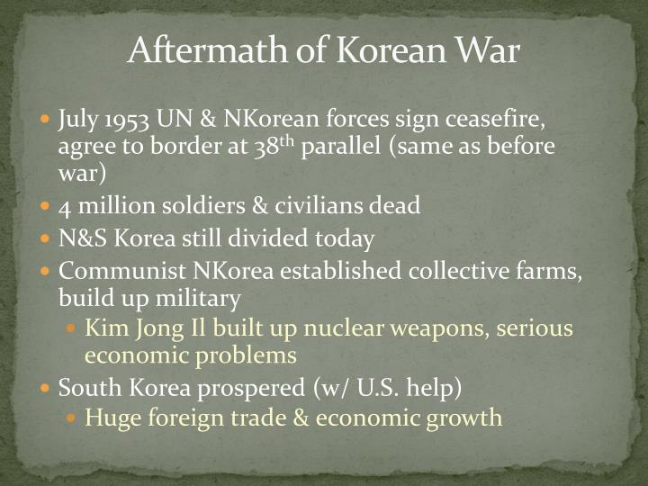 Aftermath of Korean War