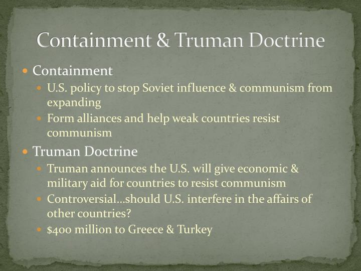 Containment & Truman Doctrine