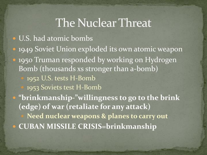 The Nuclear Threat