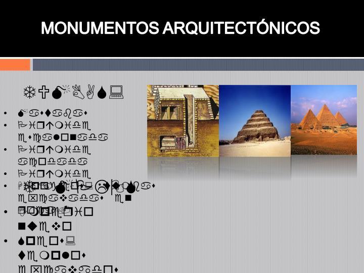 MONUMENTOS ARQUITECTNICOS