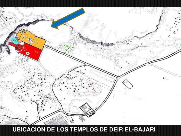 Ubicacin de los Templos de DEIR EL-BAJARI