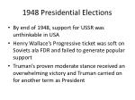 1948 presidential elections