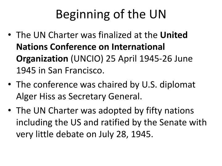 Beginning of the UN