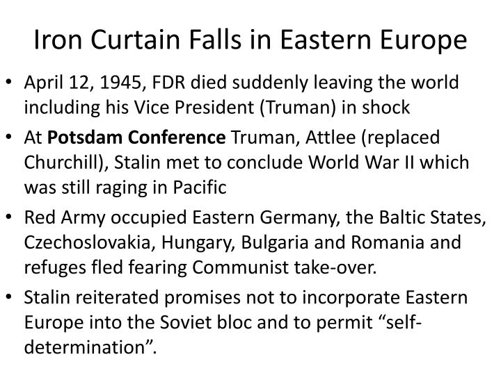 Iron Curtain Falls in Eastern Europe