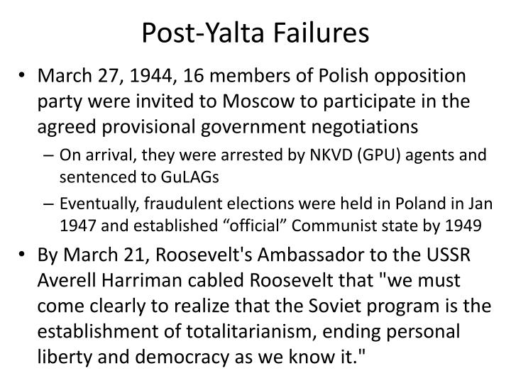 Post-Yalta Failures