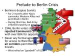 prelude to berlin crisis