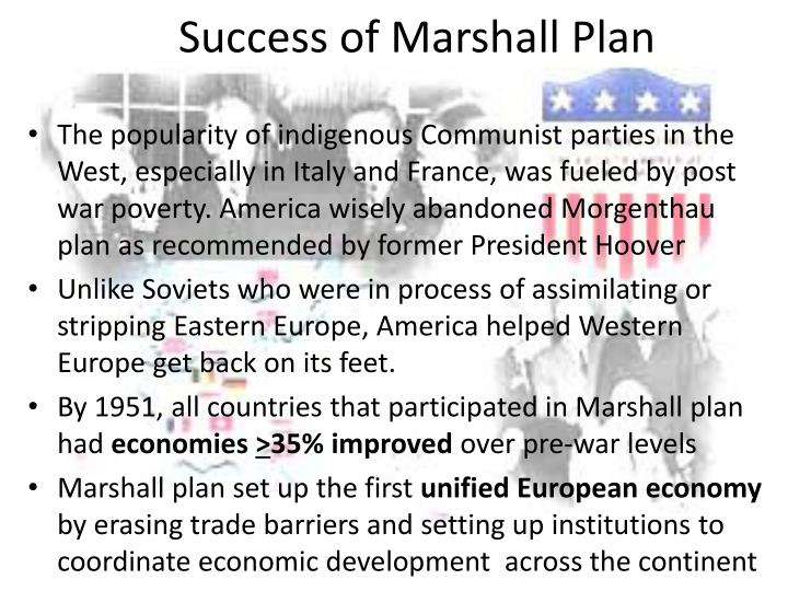 Success of Marshall Plan