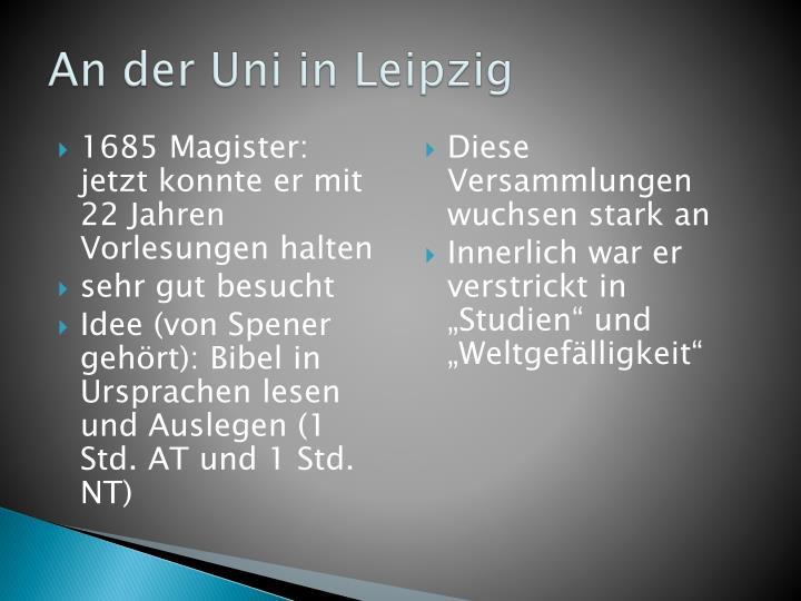 An der Uni in Leipzig