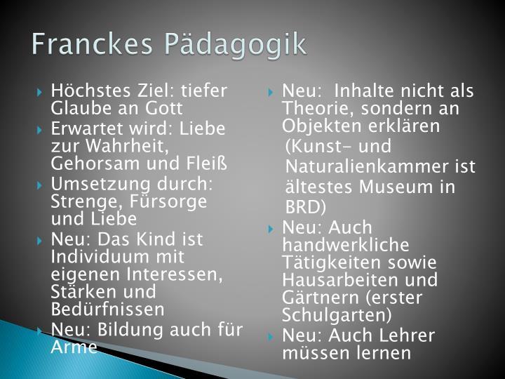 Franckes Pädagogik