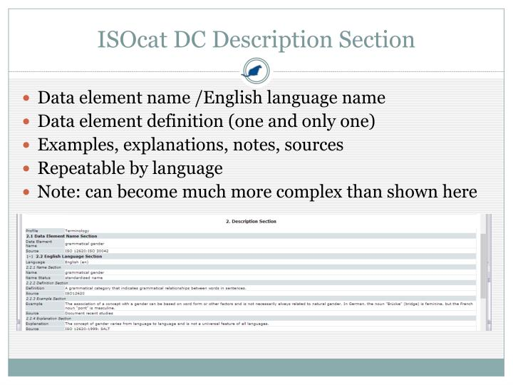 ISOcat DC