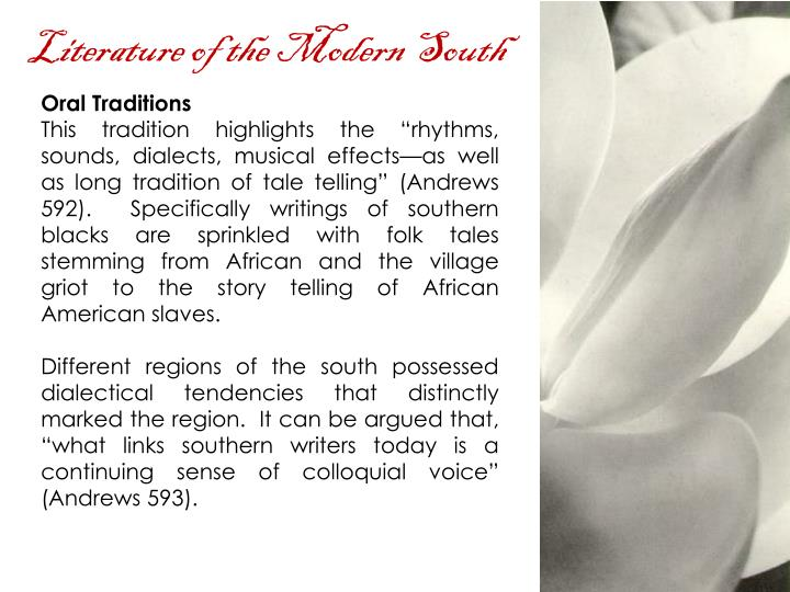 Literature of the Modern South