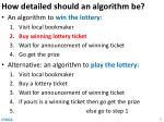 how detailed should an algorithm be2