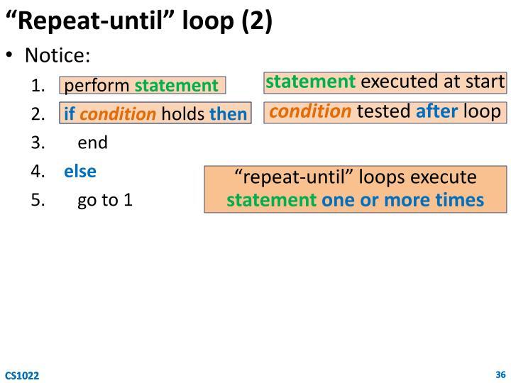 """""""Repeat-until"""" loop (2)"""