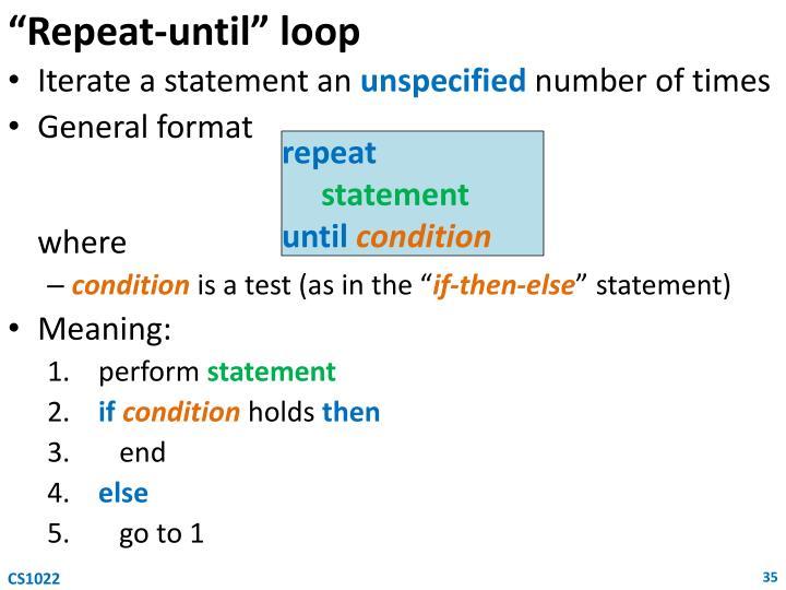 """""""Repeat-until"""" loop"""