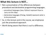 what this lecture is not1