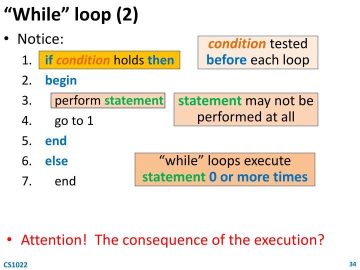 """""""While"""" loop (2)"""