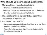 why should you care about algorithms
