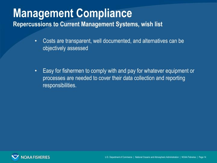 Management Compliance