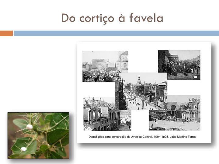 Do cortiço à favela