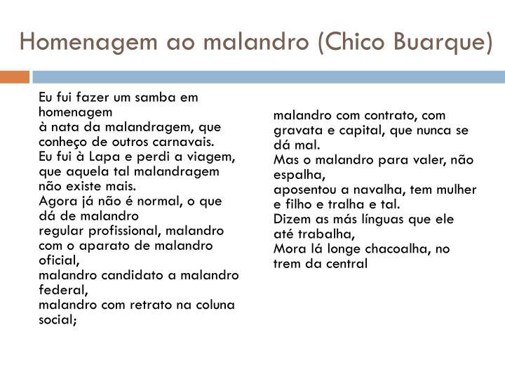 Homenagem ao malandro (Chico Buarque)