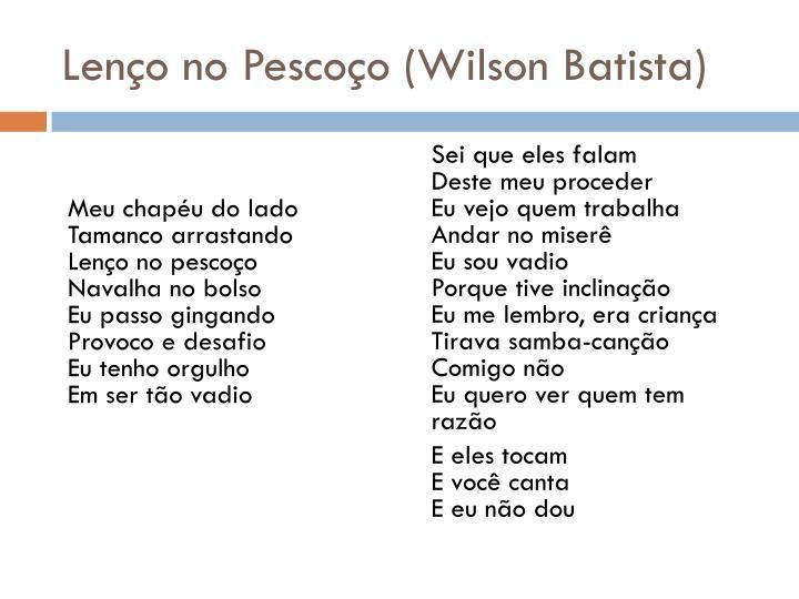 Lenço no Pescoço (Wilson Batista)