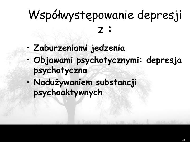 Współwystępowanie depresji z