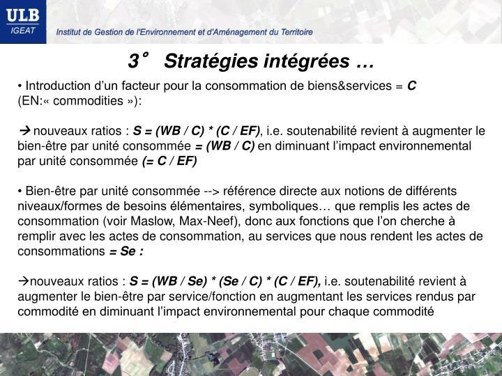 3° Stratégies