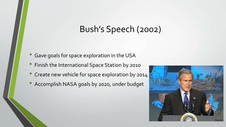 Bush's Speech (2002)