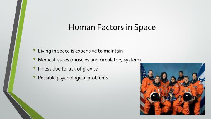 Human Factors in Space