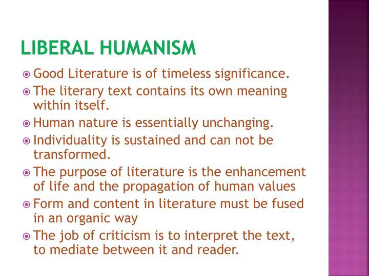 Liberal Humanism